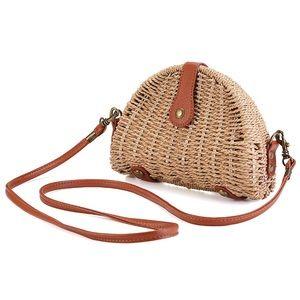 Straw crossbody handbag/clutch